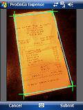 Skewed Receipt Image