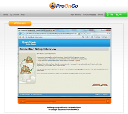 Configuring QuickBooks Online Edition for ProOnGo Expense