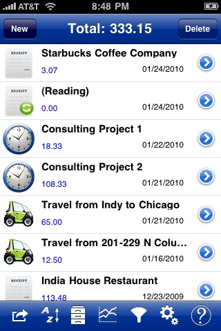 ProOnGo lets you keep track of your receipts, mileage and time expenses.