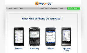 ProOnGo Compatibility Guide for Android, BlackBerry, iPhone, and Windows Mobile owners