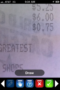 Editing Receipts in ProOnGo Expense for iPhone